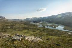 Τοπίο στο Lapland, Σουηδία Στοκ εικόνα με δικαίωμα ελεύθερης χρήσης