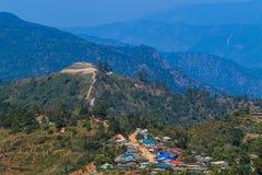 Τοπίο συνόρων της Ταϊλάνδης Βιρμανία στο ANG Khang Doi Στοκ φωτογραφία με δικαίωμα ελεύθερης χρήσης