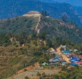 Τοπίο συνόρων της Ταϊλάνδης Βιρμανία στο ANG Khang Doi Στοκ Εικόνες