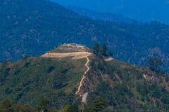 Τοπίο συνόρων της Ταϊλάνδης Βιρμανία στο ANG Khang Doi Στοκ Εικόνα