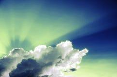 Τοπίο σύννεφων και μπλε ουρανού Στοκ εικόνα με δικαίωμα ελεύθερης χρήσης