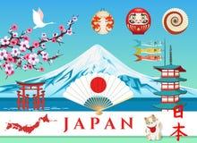 Τοπίο ταξιδιού με σκοπό τις διακοπές της Ιαπωνίας ελεύθερη απεικόνιση δικαιώματος