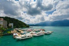 Τοπίο της λίμνης ήλιος-φεγγαριών στην Ταϊβάν Στοκ Εικόνα