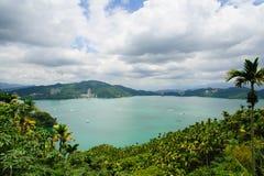 Τοπίο της λίμνης ήλιος-φεγγαριών στην Ταϊβάν Στοκ φωτογραφία με δικαίωμα ελεύθερης χρήσης