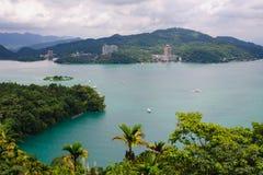 Τοπίο της λίμνης ήλιος-φεγγαριών στην Ταϊβάν Στοκ φωτογραφίες με δικαίωμα ελεύθερης χρήσης