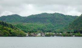 Τοπίο της λίμνης Towada σε Aomori, Ιαπωνία Στοκ Εικόνα
