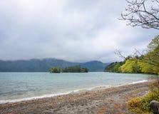 Τοπίο της λίμνης Towada σε Aomori, Ιαπωνία Στοκ Εικόνες
