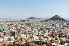 Τοπίο της Αθήνας Στοκ Φωτογραφία