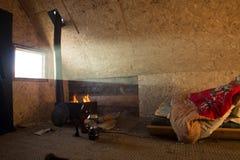 Τοπίο της ανατολής που λάμπει στην κρεβατοκάμαρα σε Khovsgol στη Μογγολία Στοκ Εικόνα