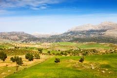 Τοπίο της Ανδαλουσίας στην Ισπανία Στοκ φωτογραφία με δικαίωμα ελεύθερης χρήσης