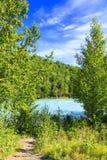 Τοπίο της Αλάσκας - χερσόνησος Kenai ποταμών Kasilof Στοκ εικόνα με δικαίωμα ελεύθερης χρήσης