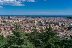 Τοπίο της Βαρκελώνης - της Ισπανίας στοκ εικόνες