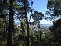 τοπίο της Βαρκελώνης Στοκ φωτογραφία με δικαίωμα ελεύθερης χρήσης