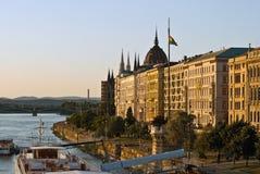 τοπίο της Βουδαπέστης στοκ εικόνες