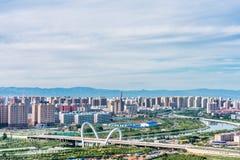 Τοπίο της γέφυρας πόλεων Hohhot στην εσωτερική Μογγολία, Κίνα στοκ φωτογραφίες