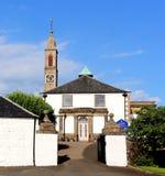 Τοπίο της εκκλησίας Newton Mearns, Γλασκώβη Mearns Castle στοκ εικόνα