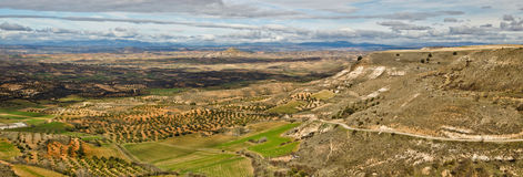 Τοπίο της επαρχίας του Γουαδαλαχάρα που βλέπει από Trijueque Στοκ φωτογραφία με δικαίωμα ελεύθερης χρήσης