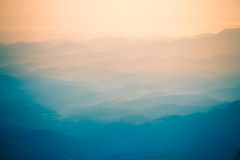 Τοπίο της θέας βουνού Στοκ Φωτογραφίες