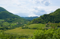 τοπίο της Ιταλίας αγροτι Στοκ Εικόνα