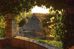 Τοπίο της Ιταλίας: Επαρχία Apulia Valle d& x27 Itria, έδαφος Cisternino Στοκ Φωτογραφίες