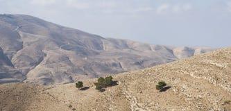 Τοπίο της κοιλάδας της Ιορδανίας Στοκ Εικόνα