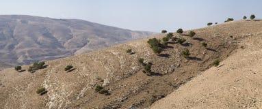 Τοπίο της κοιλάδας της Ιορδανίας Στοκ φωτογραφία με δικαίωμα ελεύθερης χρήσης