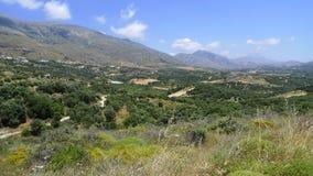 τοπίο της Κρήτης κοντά στα pla Στοκ εικόνες με δικαίωμα ελεύθερης χρήσης