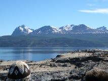 Τοπίο της λίμνης σε Usuahia Αργεντινή στοκ εικόνα
