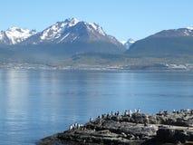 Τοπίο της λίμνης σε Usuahia Αργεντινή στοκ φωτογραφία
