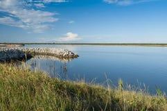 Τοπίο της λιμνοθάλασσας στο Po του δέλτα εθνικό πάρκο ποταμών, Ita Στοκ φωτογραφίες με δικαίωμα ελεύθερης χρήσης