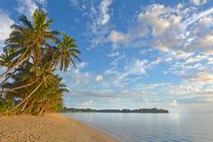 Τοπίο της λιμνοθάλασσας Muri στις νήσους Rarotonga Κουκ ανατολής Στοκ Φωτογραφία