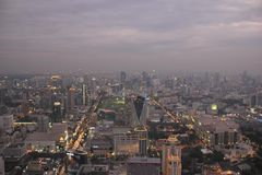 Τοπίο της Μπανγκόκ, άποψη από τον πύργο ουρανού Bayoke Στοκ Φωτογραφίες