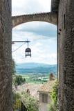 Τοπίο της Ουμβρίας Ιταλία Assisi στοκ φωτογραφία