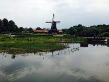 Τοπίο της Ολλανδίας Στοκ Εικόνες