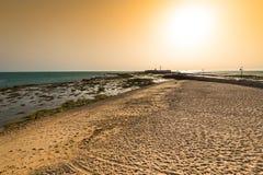 Τοπίο της παραλίας του Λα Caleta στην επαρχία του Καντίζ Στοκ Εικόνες