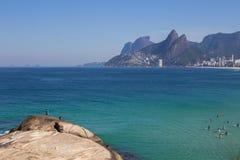 Τοπίο της παραλίας Arpoador, Βραζιλία Στοκ εικόνες με δικαίωμα ελεύθερης χρήσης