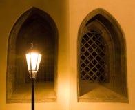 τοπίο της Πράγας νύχτας Στοκ Φωτογραφίες