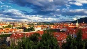 Τοπίο της πόλης της Πράγας, Δημοκρατία της Τσεχίας Στοκ φωτογραφίες με δικαίωμα ελεύθερης χρήσης