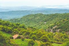 Τοπίο της Τοσκάνης - της Ιταλίας την άνοιξη στοκ εικόνα