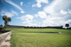 Τοπίο της Φλώριδας οχυρών του ST Augustine Στοκ φωτογραφία με δικαίωμα ελεύθερης χρήσης