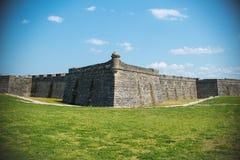 Τοπίο της Φλώριδας οχυρών του ST Augustine Στοκ Εικόνες