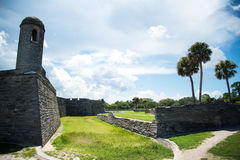 Τοπίο της Φλώριδας οχυρών του ST Augustine Στοκ εικόνα με δικαίωμα ελεύθερης χρήσης