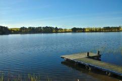 Τοπίο της mazurian λίμνης Στοκ φωτογραφία με δικαίωμα ελεύθερης χρήσης
