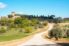 Τοπίο της tuscan επαρχίας την άνοιξη Στοκ Εικόνες
