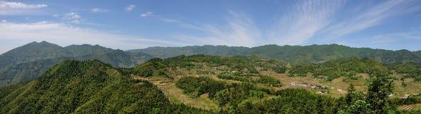 Τοπίο τομέων στη κομητεία Xinhua Στοκ Φωτογραφία