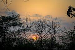 Τοπίο τοπίου ηλιοβασιλέματος στοκ εικόνες