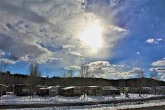 Τοπίο τοπίων, διακρατικά 17, Flagstaff στο Phoenix, Αριζόνα, Ηνωμένες Πολιτείες στοκ εικόνες με δικαίωμα ελεύθερης χρήσης