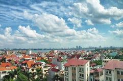 τοπίο του Ανόι αστικό Στοκ Φωτογραφία
