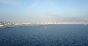 Τοπίο του Βεζουβίου, Νάπολη, Ιταλία απόθεμα βίντεο