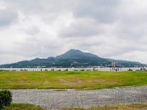 Τοπίο του βουνού και του ποταμού Tamsui στην Ταϊβάν Στοκ φωτογραφίες με δικαίωμα ελεύθερης χρήσης